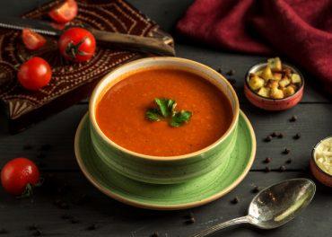 Vegetarische tomatensoep